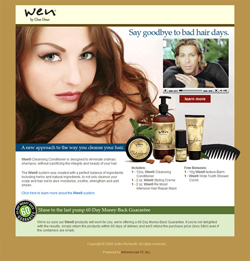 landing pages: Wen Hair Care